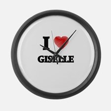 I Love Giselle Large Wall Clock