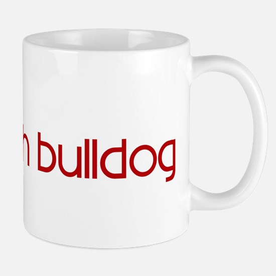 French Bulldog (dog paw red) Mug