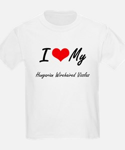 I Love My Hungarian Wirehaired Vizslas T-Shirt