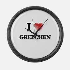 I Love Gretchen Large Wall Clock