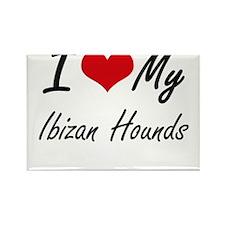 I Love My Ibizan Hounds Magnets
