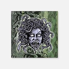 "Head of Medusa Square Sticker 3"" x 3"""