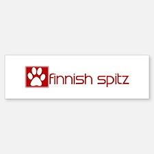 Finnish Spitz (dog paw red) Bumper Bumper Bumper Sticker