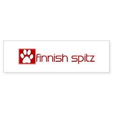 Finnish Spitz (dog paw red) Bumper Bumper Sticker