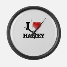 I Love Hayley Large Wall Clock