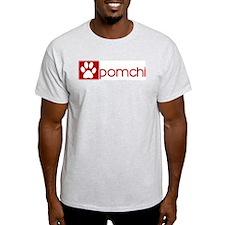 Pomchi (dog paw red) T-Shirt