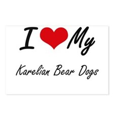 I Love My Karelian Bear D Postcards (Package of 8)