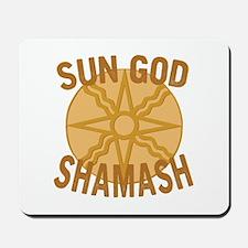 Sun God Shamash Mousepad