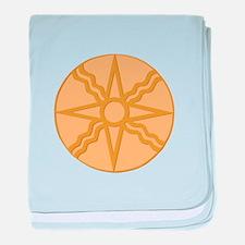 Star of Shamash baby blanket