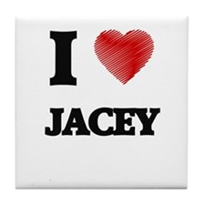 I Love Jacey Tile Coaster