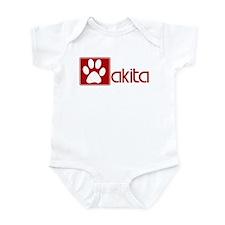 Akita (dog paw red) Infant Bodysuit