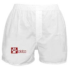 Akita (dog paw red) Boxer Shorts