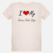 I Love My Korea Jindo Dogs T-Shirt