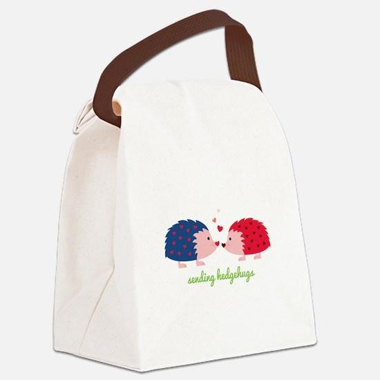 Sending Hedgehugs Canvas Lunch Bag
