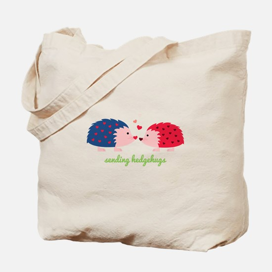 Sending Hedgehugs Tote Bag