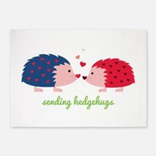 Sending Hedgehugs 5'x7'Area Rug