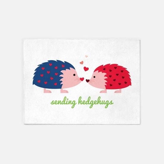 Sending Hedgehugs 5'x7'Area Rug