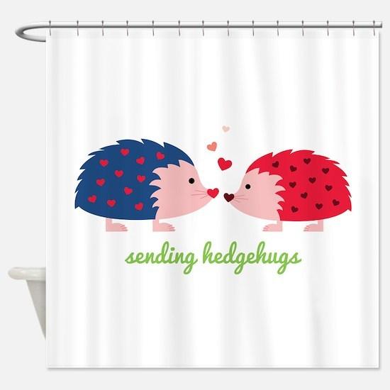 Sending Hedgehugs Shower Curtain
