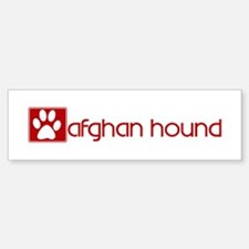 Afghan Hound (dog paw red) Bumper Bumper Bumper Sticker