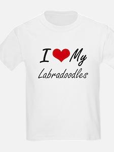 I Love My Labradoodles T-Shirt