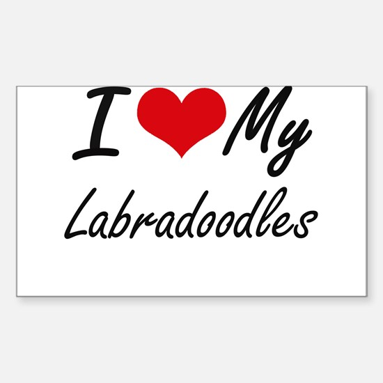 I Love My Labradoodles Decal