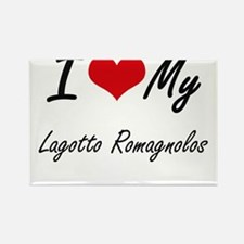 I Love My Lagotto Romagnolos Magnets