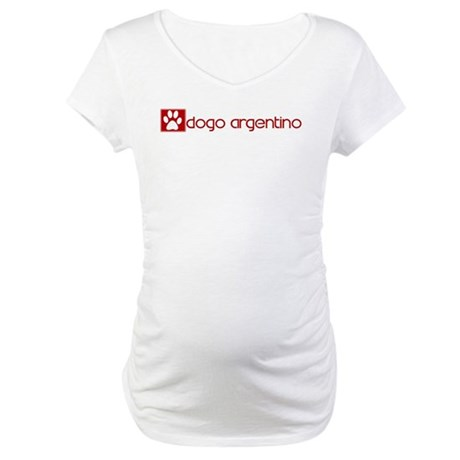 Dogo Argentino (dog paw red) Maternity T-Shirt