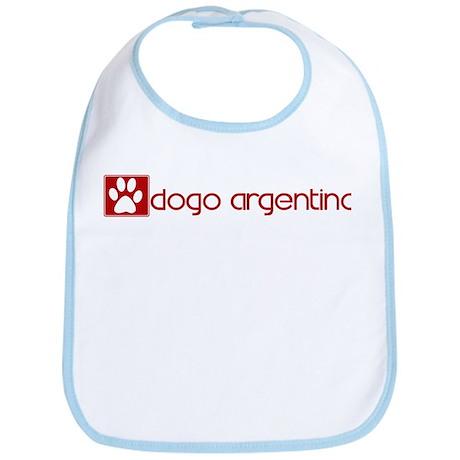 Dogo Argentino (dog paw red) Bib