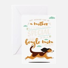 Cute Beagle mom Greeting Card