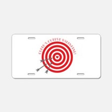 Cupids Valentine Aluminum License Plate