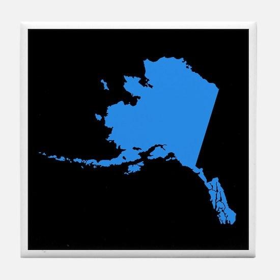 alaska blue black Tile Coaster