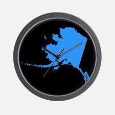 alaska blue black Wall Clock