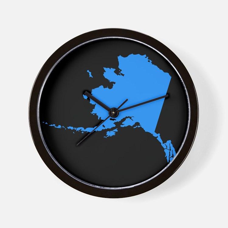 alaska blue black Wall Clock
