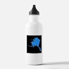alaska blue black Water Bottle