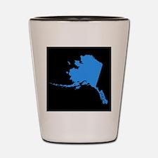 alaska blue black Shot Glass
