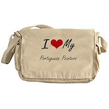 I Love My Portuguese Pointers Messenger Bag