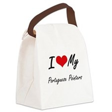 I Love My Portuguese Pointers Canvas Lunch Bag