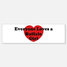 Buffalo girl Bumper Bumper Bumper Sticker
