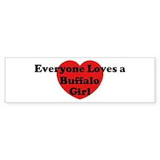 Buffalo girl Bumper Bumper Sticker