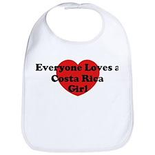 Costa Rica girl Bib