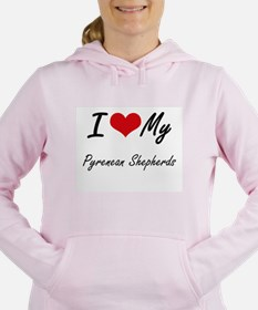 I Love My Pyrenean Sheph Women's Hooded Sweatshirt