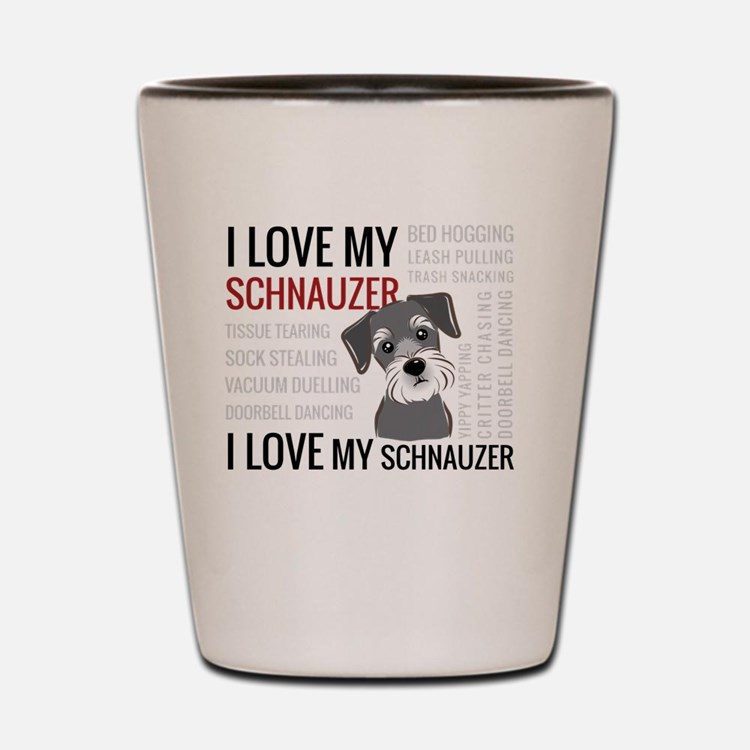 Cute Schnauzer Shot Glass