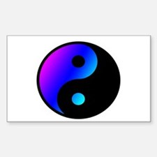 pinl blue yin yang design Decal