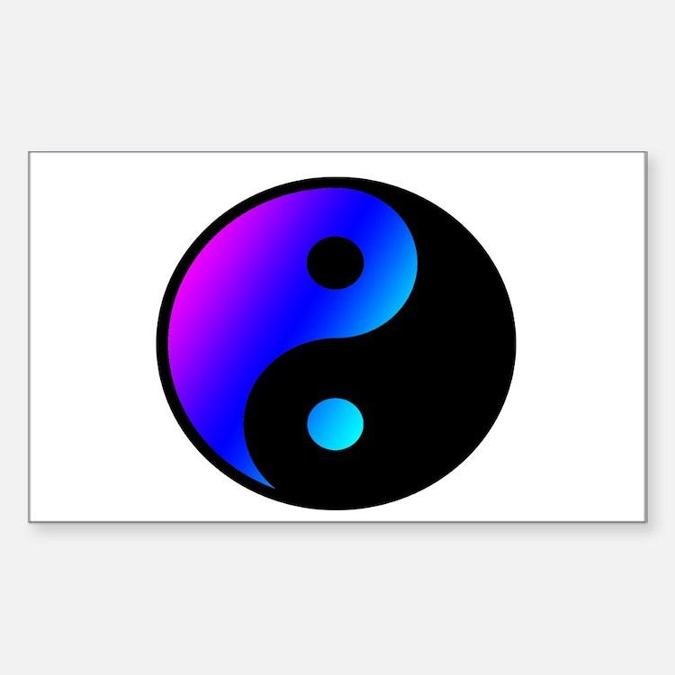 pinl blue yin yang design Decal