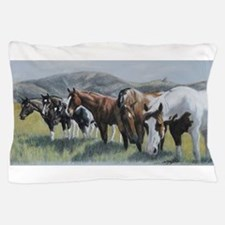 Pretty Horses All In A Row Pillow Case