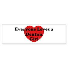 Denton girl Bumper Bumper Sticker