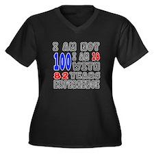 I am not 100 Women's Plus Size V-Neck Dark T-Shirt