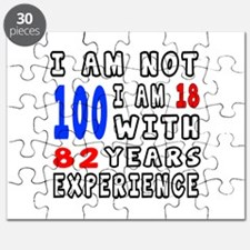 I am not 100 Birthday Designs Puzzle