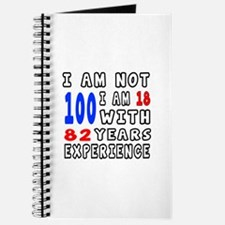 I am not 100 Birthday Designs Journal