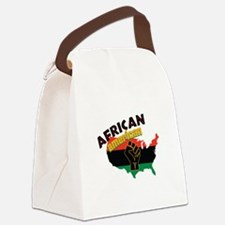 African American Canvas Lunch Bag